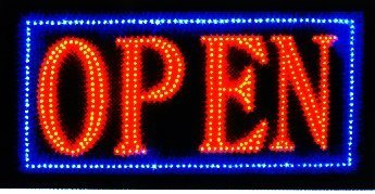 Open Sign Vivid Attention Catcher Animated LED Neon Business Light Classic Look By E-OnSale L32 by e-onsale