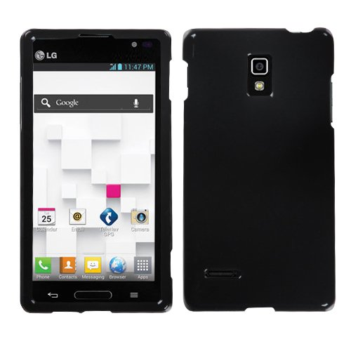 Asmyna LGP769HPCSO006NP Premium Durable Protective Case for LG Optimus L9 P769 - 1 Pack - Retail Packaging - Black (Otterbox Optimus Lg)