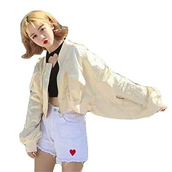 Manga Cortos Mujer Ropa Colores Sólidos Fashion Bomber Chaquetas fgqwzWCnpp