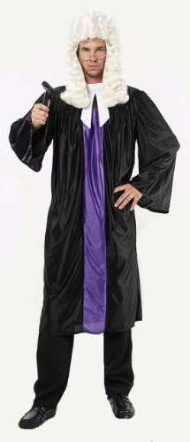 Judge Robe & Collar Fancy Dress Costume - One Size (Judge Robes Costume)