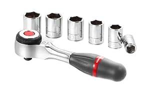 Facom R.360PACKPG - Juego de carraca y llaves de vaso (1/4, 360°)