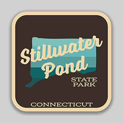 - JMM Industries Stillwater Pond State Park Connecticut Vinyl Decal Sticker Car Window Bumper 2-Pack 4-Inches by 4-Inches Premium Quality UV Protective Laminate SPS789