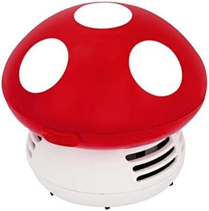 Robot escoba alto robótico de limpieza de alfombras, mini aspirador de polvo para mesa de escritorio de esquina de seta rojo: Amazon.es: Hogar