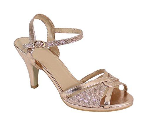 Paillettes Escarpin Talon à Shoes By Champagne Aiguille Femme 1TOpPyRqa