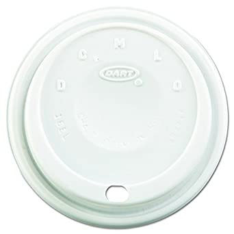 Dart 16EL White Cappuccino Plastic Lid Fit For Hot/Cold Foam Cup (Case 1,000)