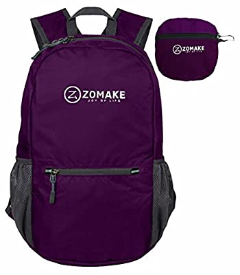 ZOMAKE Ultra Lightweight Packable Backpack Hiking Daypack, Handy Foldable Camping Outdoor Backpack