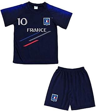 Genérico - Conjunto de camiseta y pantalón corto de Francia News para niño, color azul, tamaño 6 años: Amazon.es: Deportes y aire libre