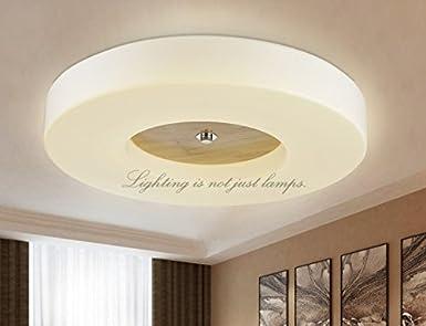 Plafoniere Led Grandi Dimensioni : Bgmdjcf circolare a led legno lampade da soffitto elettorale di