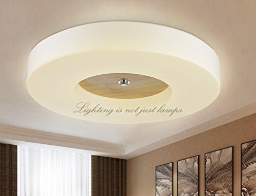 BGmdjcf Led Circular Wood Ceiling Light , In The Elections Of The Top With A Health 43Cm Extreme Dimming + Remote Control
