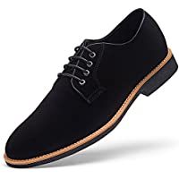 Men's Suede Leather Oxford Shoes casual Lace up Dress Shoes