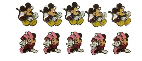 New Horizons Production Disney's Mickey & Minnie Mouse Characters Set of 10 DIY Charms ()