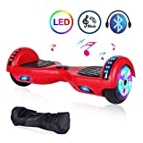 EPCTEK Hoverboard Self Balancing Electric Scooter 6.5'' Two-Wheel UL 2272 Certified hoverboards for Kids with Bluetooth Speaker LED Light Flashing Lights on Wheels Free Carry Bag