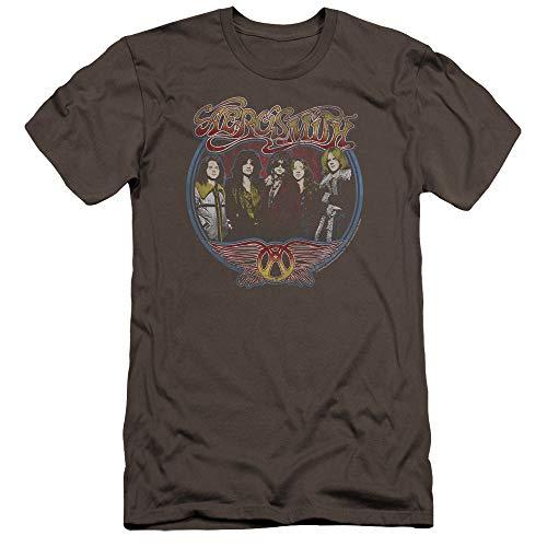 Retro de hombre Aerosmith antracita Premium slim fit Group Camiseta para xwxCq0BS