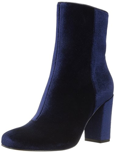 Ankle Boot Women's Round Fix Midnight Navy Toe Velvet Sutton The TqUWSa