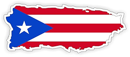 (Puerto Rico Flag Vinyl Bumper Sticker | Car Window Decal | Rican Label Flags Laptop Notebook)