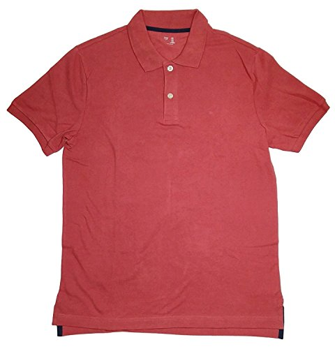 GAP Men's Solid Color Polo Shirts (XL, (Gap Pink Shirt)