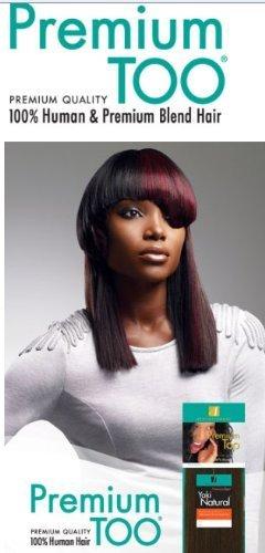 Sensationnel Premium Too 100% Human Hair Yaki Natural 14L -#1(Jet Black) by Sensationnel