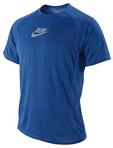 Nike Team Royal Sublimated Graphic Running Shirt For Men - Team Running Shirts