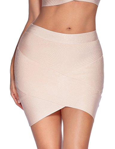 Meilun Women's Rayon Bandage Bodycon Mini Skirt