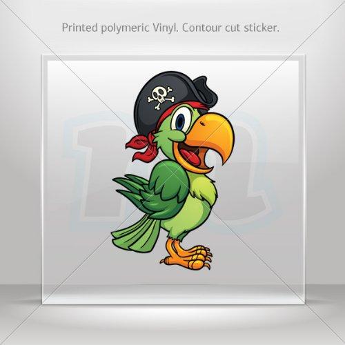 Decal Stickers Pirate Parrot Decoration Motorbike Bicycle Vehicle ATV (16 X 9.90 (Et Bike Scene Costume)