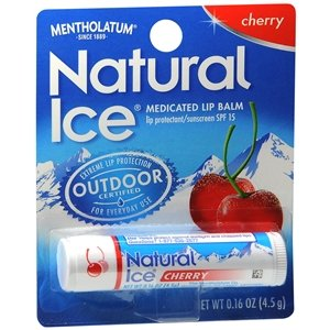 Natural Ice SPF15 Cherry Flavor Lip Balm 3 Pack