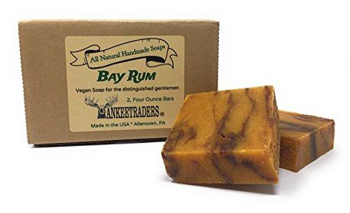 Orange Hand Rough Touch Cleaner (Bay Rum Soap - All Natural, Vegan, Handmade Soaps for Men / 2 Bars)