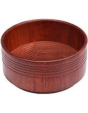 Rakskål män träskål män trä rakning kopp män trä ekskum våt mugg rakning halkskydd mörkbrun rengöringskopp naturligt verktyg