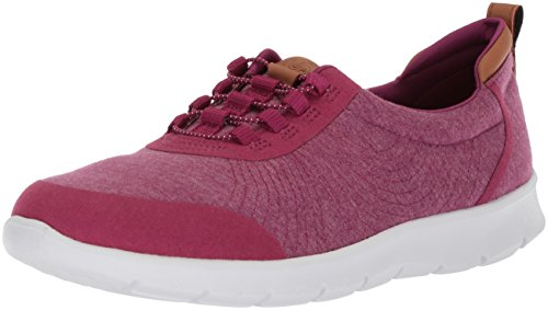 CLARKS Women's Step Allenabay Sneaker, Deep Fuchsia Heathered Fabric, 95 M US