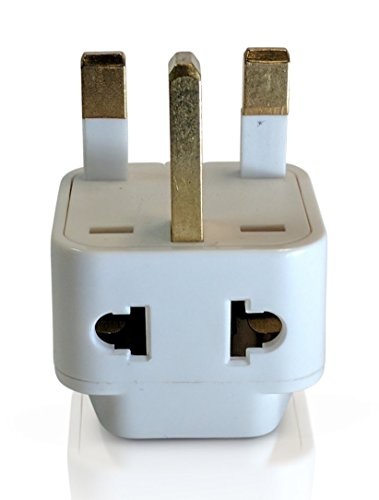 Tmvel  2-in-1 Type G Plug Grounded Adapter for United Kingdom Hong Kong UAE UK