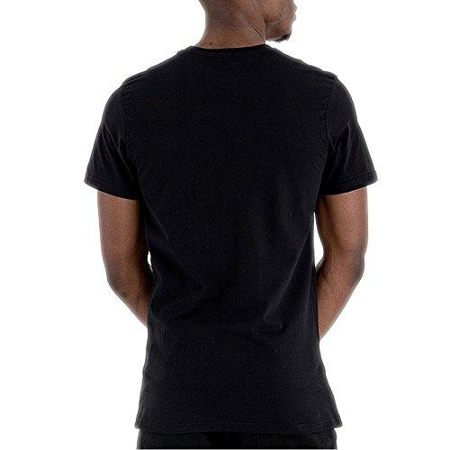 A NEW ERA T-Shirt NBA Atlanta Hawks Team Logo Nero Formato: XL (X-Large)