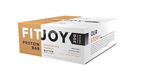 FitJoy Nutrition Protein Bar, Chocolate Peanut Butter, 12 Count