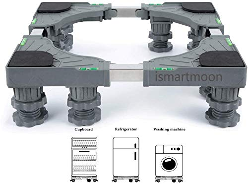 Universal Mobile Base Dolly Roller with 8 Strong Feet Multi-Functional Adjustable Base for Adjustable Dryer, Washing Machine and Refrigerator (8 Strong Feet)