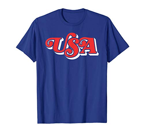 Vintage USA Retro Typography Patriotic 4th of July T-Shirt