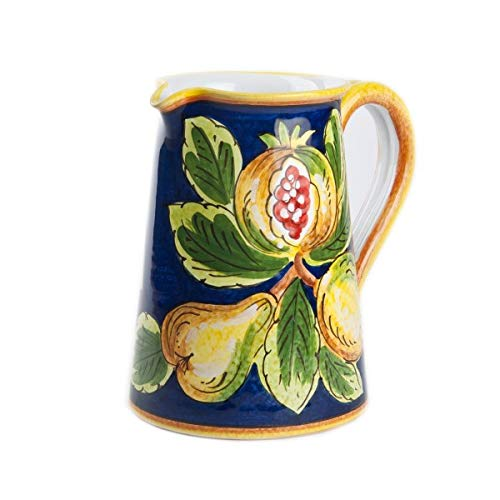 - Italian Ceramic Deruta Pomegranate Pitcher by Ceramiche Sberna 1.5 Liter