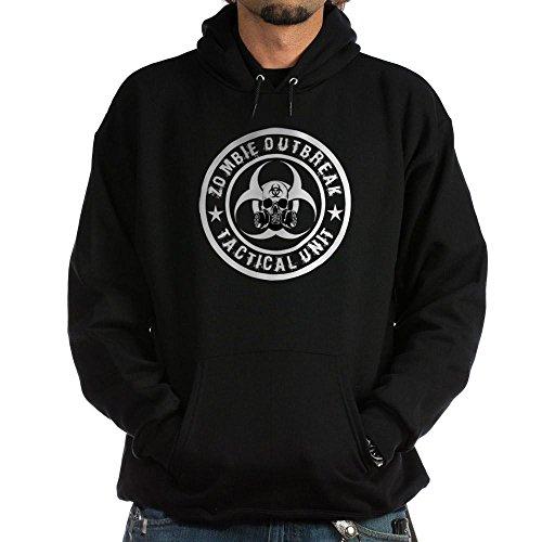 CafePress Zombie Outbreak Tactical unit Hoodie (dark) Pullover Hoodie, Classic & Comfortable Hooded Sweatshirt -