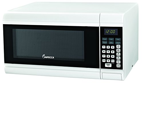 Impecca CM0991W Countertop Microwave Oven 900W Power, White, 0.9 cu. ft.