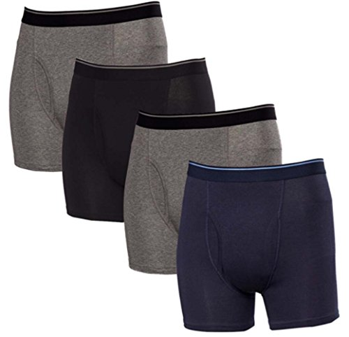 Kirkland Signature Men's Boxer Brief Pima Cotton 4 Pack (Large, Assorted) from Kirkland Signature
