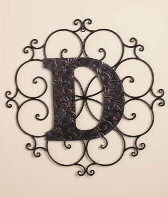 Personalized Letter D Metal Wall Art – Great Gift
