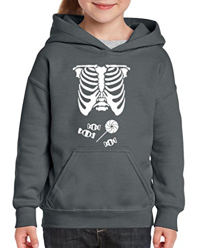 [Xekia Kids Hallowen Costume Skeleton with Candies Halloween Fashion Children Gifts Hoodie For Girls - Boys Youth Kids Small] (Hallowen Contact Lenses)