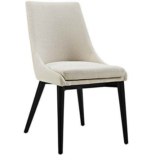 Modway Viscount Mid-Century Modern Upholstered Fabric Dining Chair In Beige