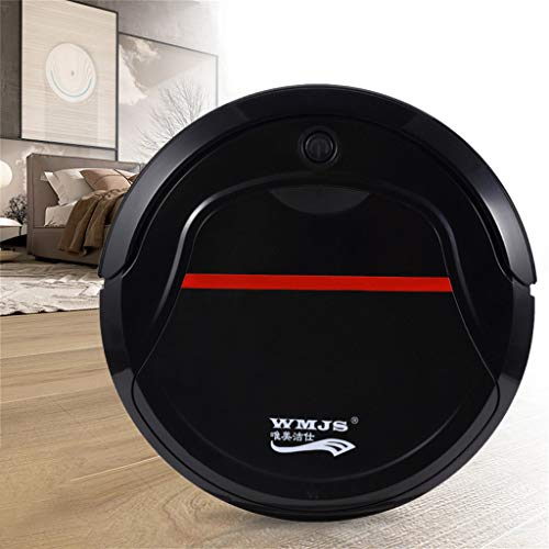 - Maikouhai 150ML Rechargeable Intelligent Sweep Robot Vacuum Cleaner Floor Cleaner Sweeping Machine for Pet Hair, Crumbs, Dust, Debris, Paper Clips - 160Mins Use Time - 1000PA, 3.7V, 5W (Black)