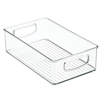 "mDesign Plastic Kitchen Food Storage Bin with Handles, 6"" Wide"