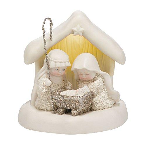 Department 56 Snowbabies Beneath the Christmas Star Porcelain Figurine, 4.7