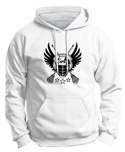Lacrosse Balls Syracuse Lacrosse Monkey Lacrosse Jolly Roger Crossed Lacrosse Sticks Premium Hoodie Sweatshirt Small White