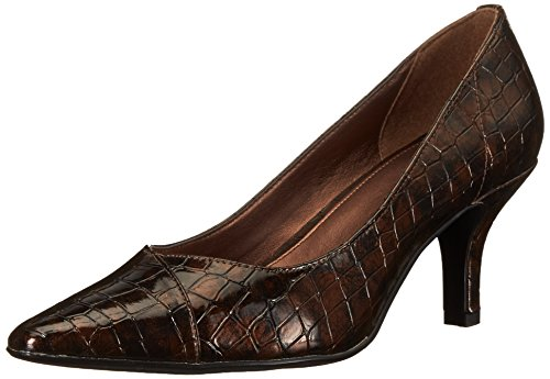 Easy Street Women's Chiffon Pump,Bronze,8 WW ()