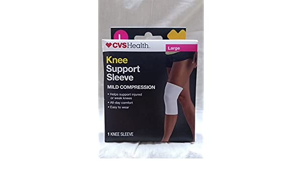 0a0bb7a112 Amazon.com: CVS Health Knee Support Sleeve MILD COMPRESSION Large 1 KNEE  SLEEVE: Health & Personal Care