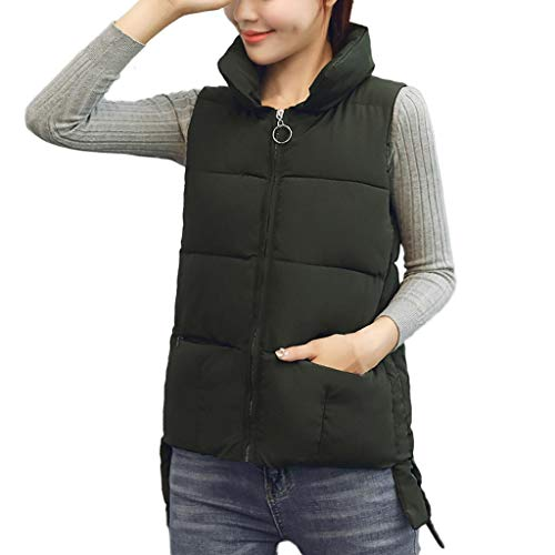 AIMTOPPY Women's Autumn and Winter Cotton Vest Slim Pure Color Short Vest Cotton Jacket