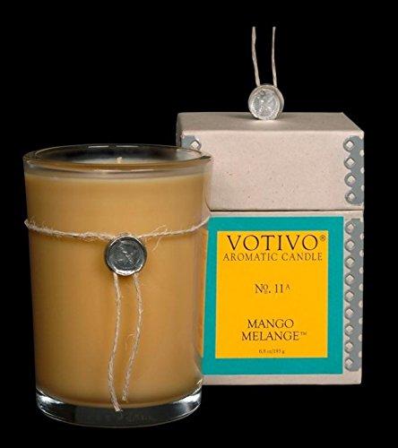 Votivo - Aromatic Glass Candle, Mango
