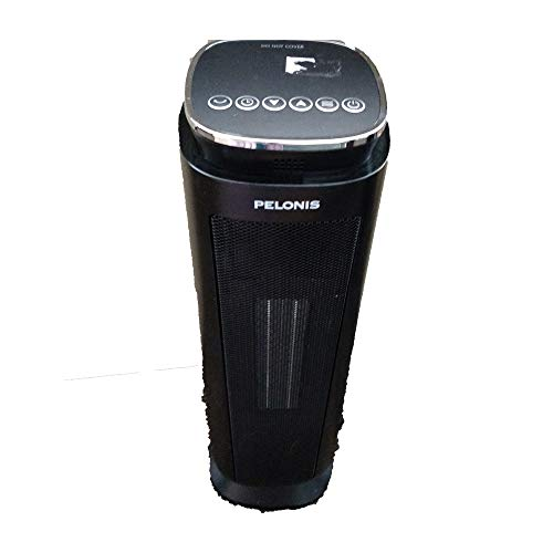 PELONIS Ceramic Space Heater, 1500W Electric Portable Tower Heater with 8-Hour Programmable Timer, Remote Control, Oscillating Safe Heater for Indoor Use (Pelonis Ceramic Disc)