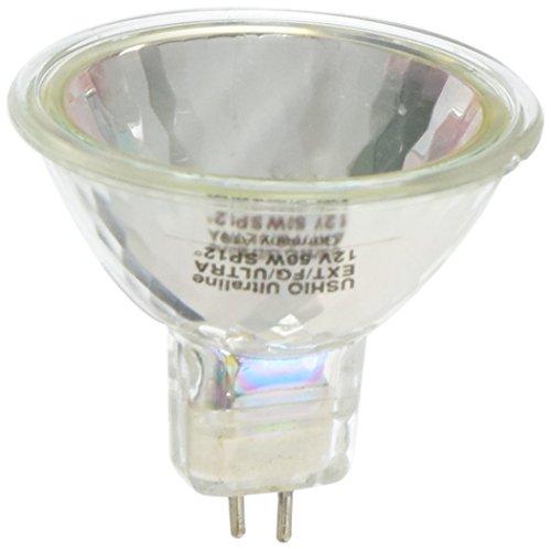 Ushio BC2894 1002168 - EXT/FG JR12V-50W/SP12/FG/ULTRA - 50W 12V MR16 Halogen Light Bulb, 12 Degree Beam Spread, 10,000 Hour Life